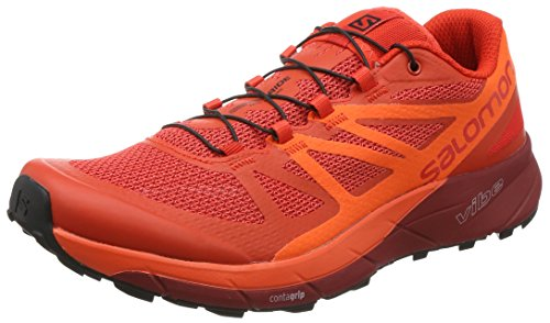 adaef1aea63df Salomon Sense Ride, Zapatillas de Trail Running para Hombre, Rojo (Fiery  Scarlet Ibis