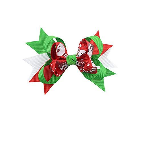 (XIAXIACP Schöne Weihnachten Ornamente Bowknot Haarnadel Kopfschmuck, Neujahr Dekoration Haarspange Für Kinder Mädchen Nationalflagge Tag Unabhängigkeitstag Patriotischen Party,3)