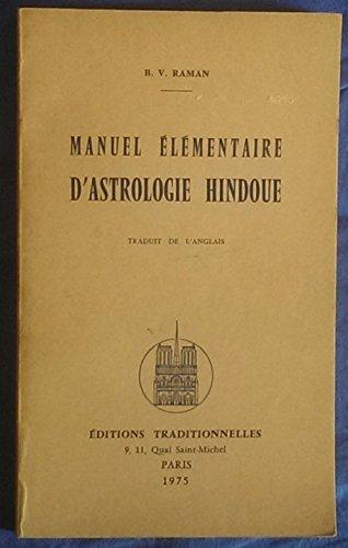 Manuel élémentaire d'astrologie hindoue
