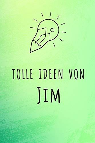 Tolle Ideen von Jim: Unliniertes Notizbuch mit Rahmen für deinen Vornamen