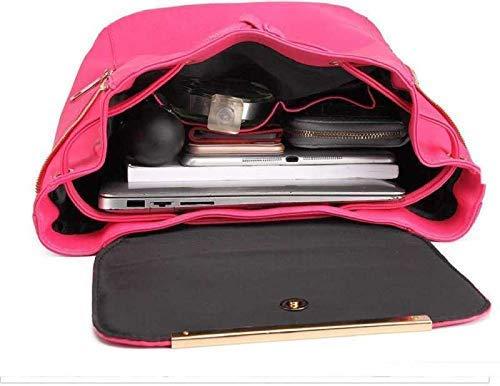 JSPM PU Leather Backpack School Bag Student Backpack Women Travel bag Tuition Bag Backpack (Premium Pink SP-0189) Image 4
