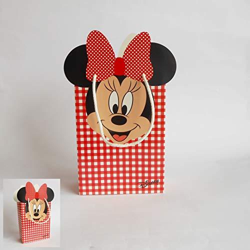 Bonboniere Shoppers Umschlag Minnie Disney rot 20 Stück Art. 68026 -