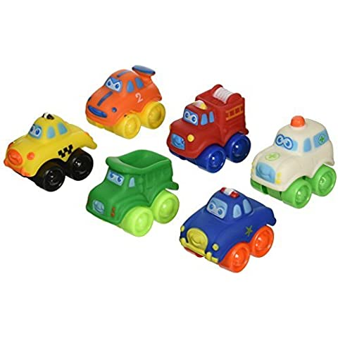 Bruin Mini City - 6 Soft Car Set (Colors/Styles Vary) by Toys R Us
