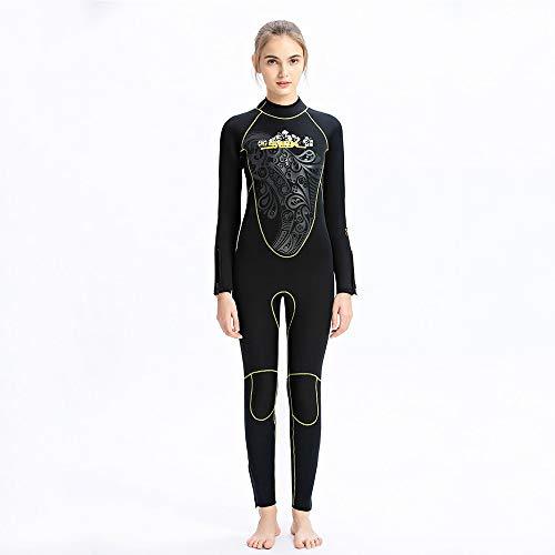 HBRT 5mm Neopren Damen Neoprenanzug, Abnehmen Design Tauchanzug, Wärmeschutz für Tauchen Surfen Angeln Kajak Schwimmen,L