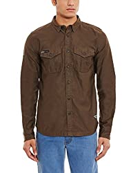 Superdry Mens Casual Shirt(5054265720918_M40000BN_S_Fern)