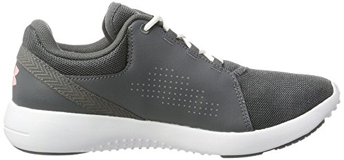Under Armour UA W Squad, Scarpe Sportive Indoor Donna Grigio (Rhino Gray)