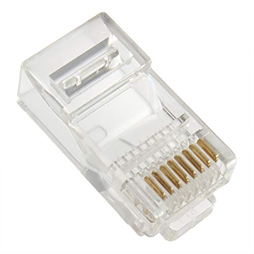 Stranded Utp-kabel (CHOULI Neuer, hochwertiger RJ45 CAT5 Crystal Modular Plug LAN Netzwerkstecker Transparent)
