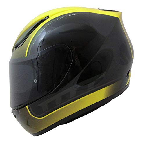 Preisvergleich Produktbild MT Revenge Binomy Motorrad Helm - Schwarz / Weiß / Flu Gelb XS