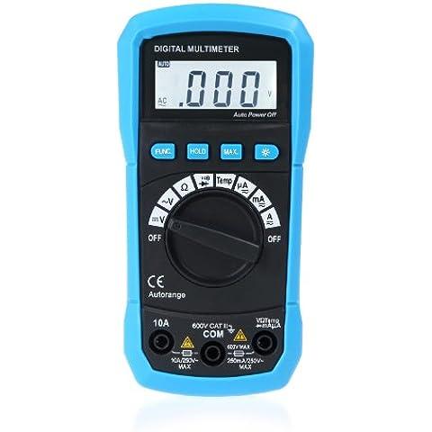 Andoer® Multímetro digital DMM Medición de temperatura Auto-rango máx. Data Holding LCD Backlight (A- Multímetro