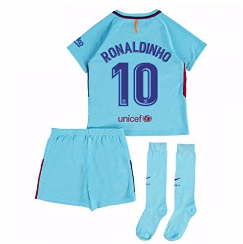 2017-2018 Barcelona Away Mini Kit (Ronaldinho 10)