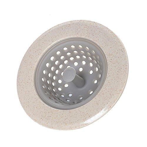 Inovey Honana Bd-207 Silikon Abfluß Stopfen Haar Fänger Küche Badewanne Boden Drain Protector - Hellgrau