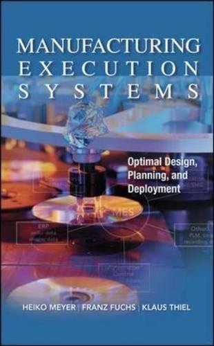 Manufacturing Execution Systems (Mes): Optimal Design, Planning, and Deployment - Ultimate Cami