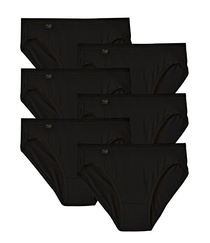 sloggi Damen Slip Feel Pure Tai 8301PR12 6er Pack, Farbe:Schwarz;Wäschegröße:44;Artikel:8301PR12-83004 schwarz