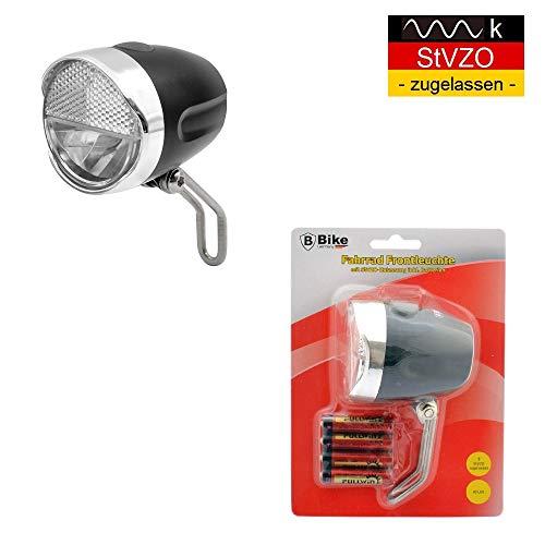 B-Germany 30 LUX LED Retro Look Hollandrad Fahrradlampe Fahrradleuchte Frontlampe Fahrradlicht Fahrradbeleuchtung mit StVZO-Zulassung