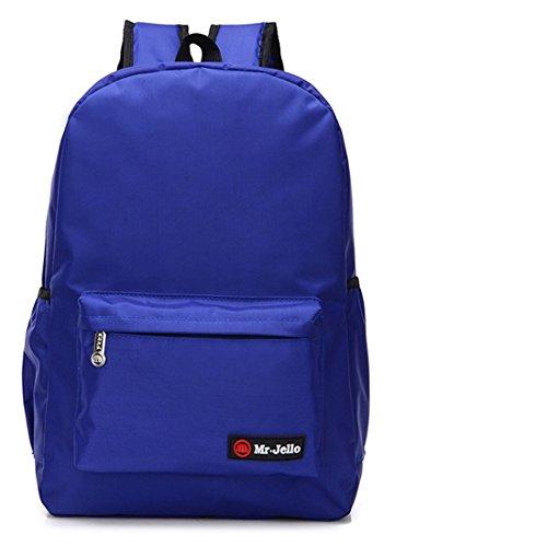 Nette Buch-Taschen für Schulmädchen-Jungen-jugendlich Schulrucksack-hohe Kapazität und Qualität ( Farbe : Orange L ) Blue L