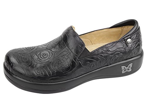 Alegria Womens Keli Professional Shoe Night Rosette