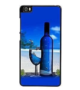 printtech Beach Drink Bottle Wine Back Case Cover for Xiaomi Redmi Mi5::Xiaomi Mi 5