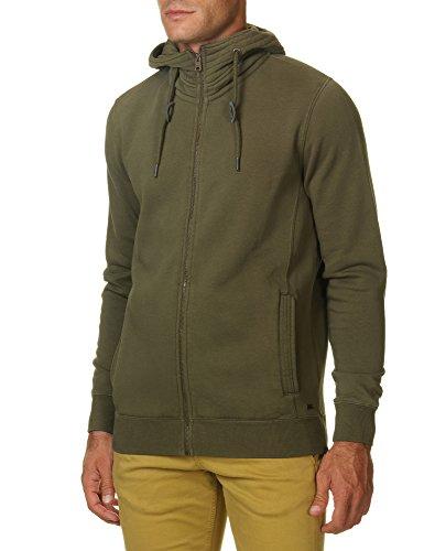Garcia Jeans Men's Paolo Men's Khaki Zip Top Hoodie In Size Xl Green