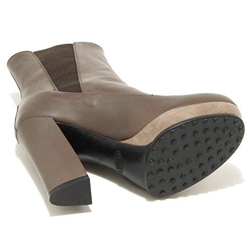 1858G tronchetto donna colore fango TOD'S PLAST GOMMA scarpa stivale bo Fango