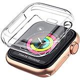 جراب قطعة واحدة لساعة Apple Watch Series 5 4 3 2 واقي شاشة 42 مم، غطاء حماية شفاف ناعم من مادة TPU لجميع الأنحاء لسلسلة iWatc