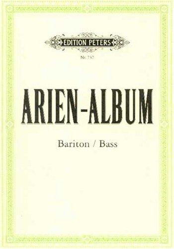 Arien-Album - Berühmte Arien für Bariton und Bass: mit Klavierbegleitung
