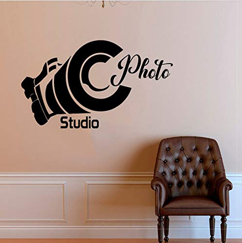 HLZLA Kreatives Design Kamera Fotostudio Aufkleber Vinyl Wohnkultur Wandaufkleber Selbstklebende Film Fenster Wandbild Abnehmbare Aufkleber 57x33 cm