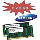 4GB Samsung Dual Channel Kit: 2 x 2 GB = 4GB 200 pin DDR2-667 SO-DIMM - passend für Acer Aspire Notebook 5570 Serie + 5580 Serie + 5610 Serie + 5710 Serie + 7220 Serie + 7520 Serie + 7520G Serie + 8920 + 8920G + 9410 Serie + 9412