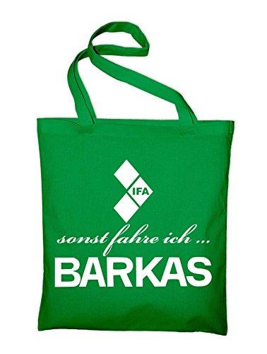 sonst fahre ich Barkas Ifa Logo Jutebeutel, Beutel, Stoffbeutel, Baumwolltasche, natur Grün
