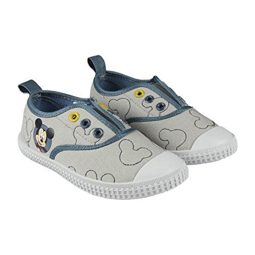 Disney Micky Maus 2300002884 Jungen Sneaker, Schuhe, Canvas, Grau (24) (Home Maus Disney)