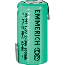 Emmerich NiMH 2/3 AA Tamaño, Tagged, recargable, 1,2 V, 600 mAh