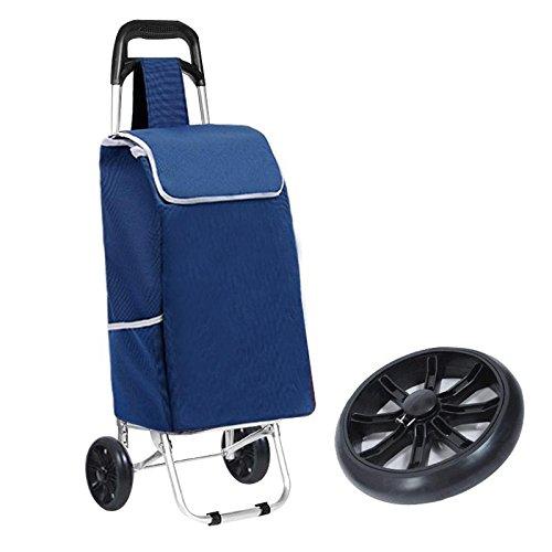 Carrello da tetto pieghevole a 2 ruote Carrello in lega di alluminio con borsa pieghevole leggera Carrello di acquisto leggero (multicolore opzionale) , 3
