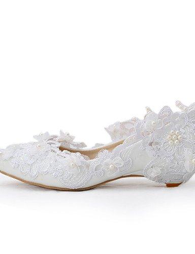 WSS 2016 Chaussures de mariage-Blanc-Mariage / Habillé / Soirée & Evénement-Compensées-Talons-Homme under 1in-us11 / eu43 / uk9 / cn44