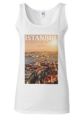 Istanbul Turkey Dream City Turkish White Women Vest Tank Top **Blanc