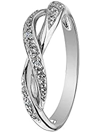AG New Collection .925 Sterling Silver and Diamond Kanyakumari Ring