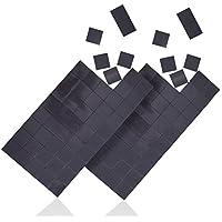 WINTEX 100 plaquettes magnétique adhésives 20 mm x 20 mm x 1,2 mm, autoadhésives, forte adhérence, en noir avec 2 ans de garantie satisfaction