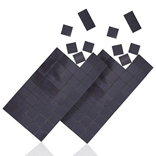WINTEX® 100 Magnet-Plättchen - Stärke: 1,2 mm, Größe: 20 mm x 20 mm, 100 Stück - selbstklebend, haftstark, in schwarz, individuell zuschneidbare Klebemagnete – zur Befestigung von Postern, Fotos, Postkarten, - Quadratische Magnete
