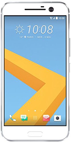 HTC 10 Smartphone (13,2 cm (5,2 Zoll) Super LCD 5 Display, 1440 x 2560 Pixel, 12 Ultrapixel, 32 GB, Android) glacier silber Generation Headphone Jack
