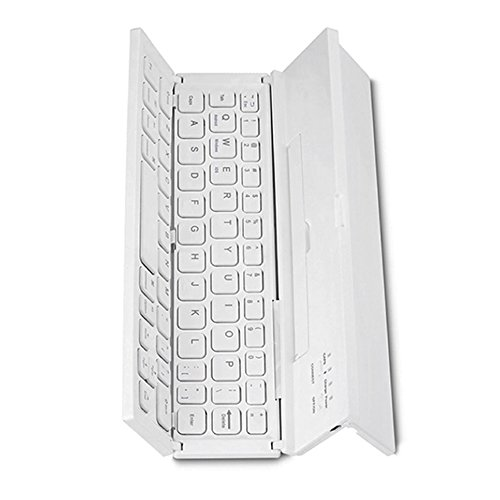 KKmoon Teclado Plegable Bluetooth Inalámbrico Teclado de Bolsillo Ultra Delgado con Kickstand Universal para smartphone tableta PC
