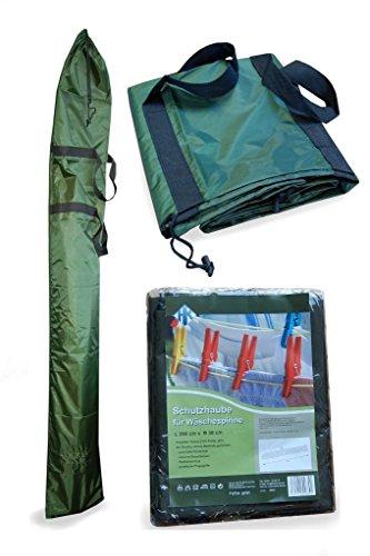 Schutzhaube Schutzhülle Wetterschutzhaube Wäschespinne Sonnenschirm Oxford Gewebe grün reißfest windfest regenfest