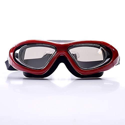 EODUDO-S Anti-Fog-Tauchen Schwimmbrille Einstellbare Maske für Erwachsene Big Vision Brille HD Large Frame Wasserdicht und Anti-Fog-Schwimmbrille, Weitere Stile (Farbe : C3, Größe : Free)