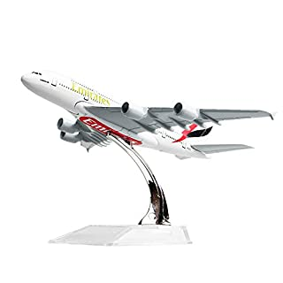 Diecast Airplane 1:400 Emirates Airbus 380 Metal (16cm) Plane Model Office Decoration or Gift by LESES
