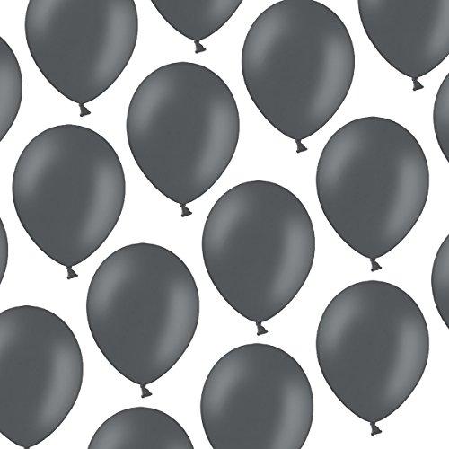 Kleenes Traumhandel 100 Luftballons - 23 cm - Pastell Grau - Formstabil