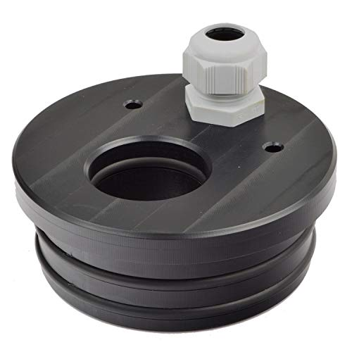 Agora-Tec® Brunnendeckel für 4 Zoll DN 100 Brunnenrohr für 40mm PE-Rohr