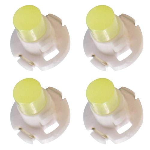 Rungao Lot de 4 Ampoules LED T3 3D pour Panneau de Remplacement pour Instrument de Voiture Dash Gauge Cluster Compteur de Vitesse Indicateur Lampes, Blanc