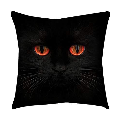 EUCoo Sofa Kissen Kissenbezug Home Cool Simple Black Cat Eye PersöNlichkeit Polyester Kissenbezug(E)