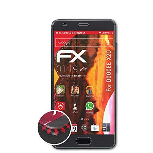 atFolix Schutzfolie passend für DOOGEE X20 Folie, entspiegelnde & Flexible FX Bildschirmschutzfolie (3X)