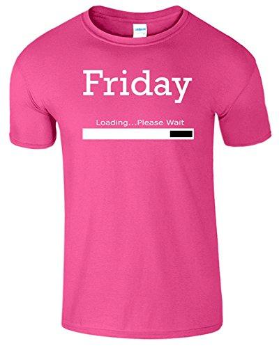 Friday Loading Weekend Frauen Der Männer T Shirt Antique Heliconia / Weiß Design
