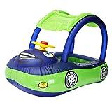 Fantasyworld Karton Sonnenschirm Baby-Wasserschwimmer PVC Sitz Boot mit Canopy Schlauchboot Kleinkind-Schwimmen-Ring mit Lenkrad
