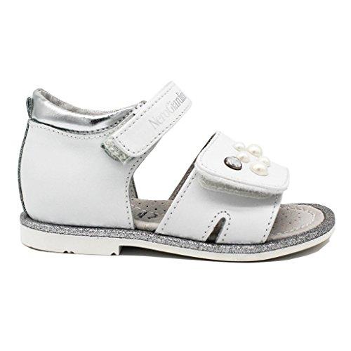 Nero Giardini Chaussures à Brides Fille - Blanc - Bianco, 23 EU EU