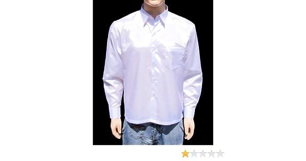 Blanc Chemise Hommes en soie tha/ïlandaise /à Manche Longue Taille XXXL